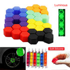 20pcs Luminous Wheel Nuts m 12x1.25 Lug Bolts For Wheels Orange Valve Caps Car Screw Protector Silica Gel Wheel Bolts Nut Caps