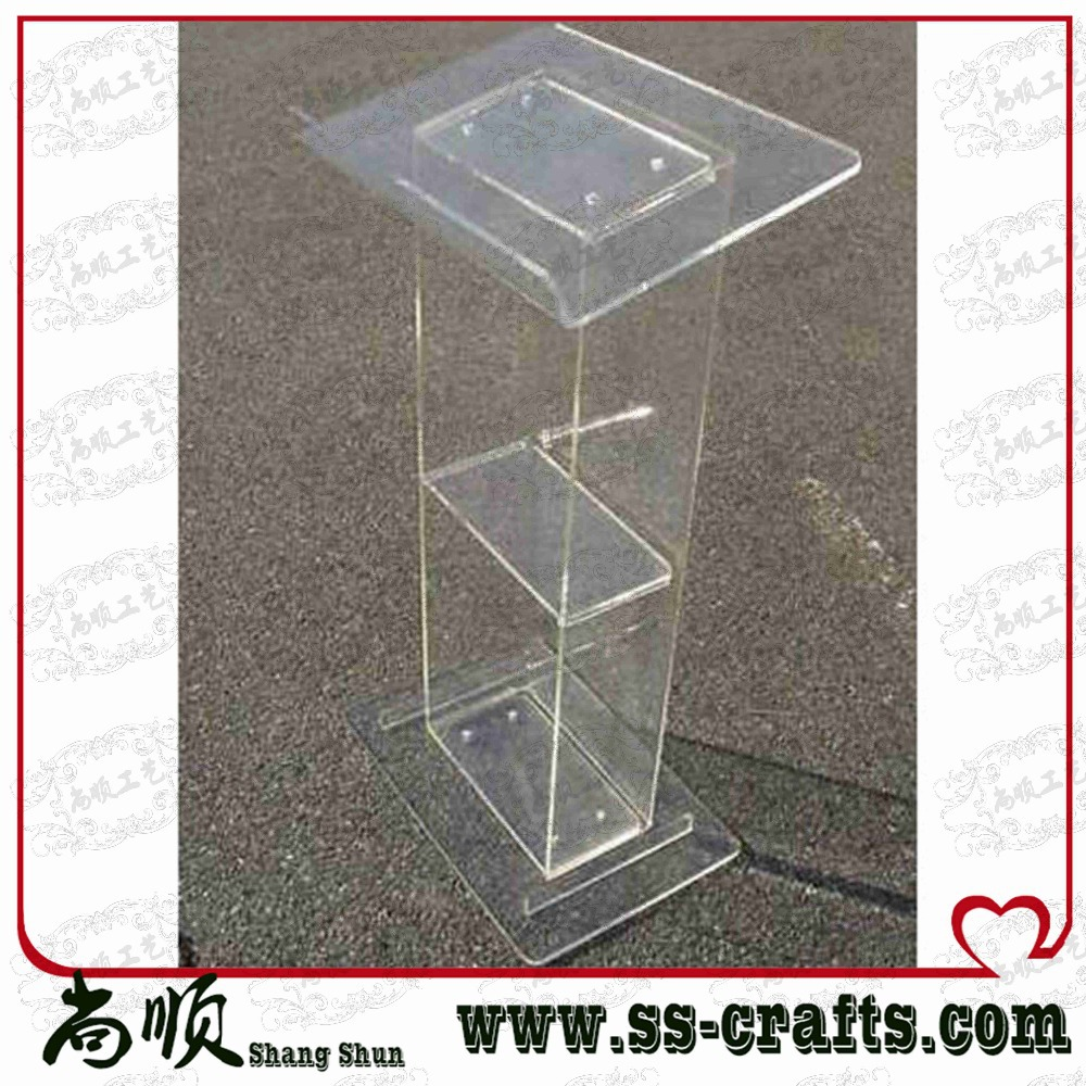 Free Shiping Acrylic Lectern Podium Transparent Acrylic Lectern Stand