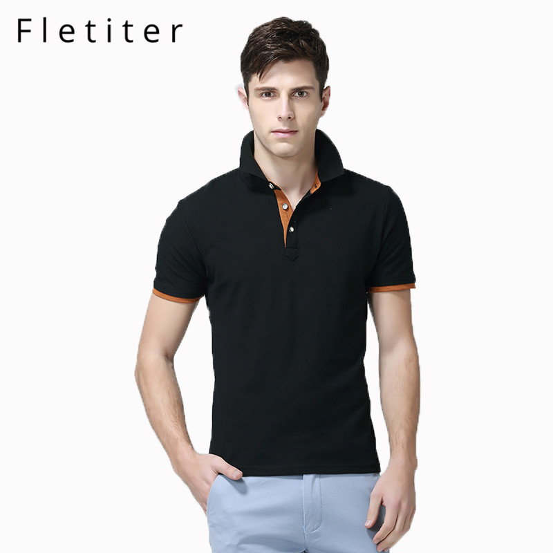 Fletiter 2019 Summer New Mens Cotton   Polo   shirts Short Sleeve Solid Color Simple shirt for Male fashion   Polo   shirts M-3XL Brand
