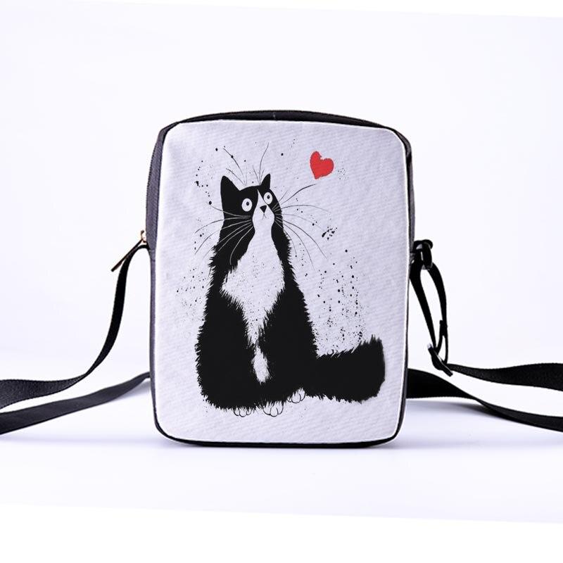 CROWDALE Women Crossbody Bags The cat beard Printing for Kid Casual Mini Female Children Messenger Bag Bolsos Mujer 23x17x5cm