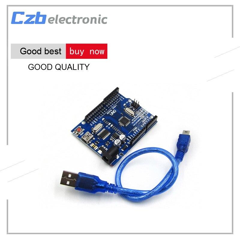 One set New UNO R3 CH340G MEGA328P For Arduino UNO R3 ATMEGA328P AU Compatible CH340 Replace Atmega16U2 With Mini USB With LOGO high quality uno r3 mega328p ch340 ch340g for arduino uno r3 usb cable 5pcs