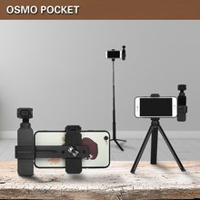 DJI OSMO Pocket Handheld Gimbal Camera Selfie Stick Phone Fixing Clamp Bracket Extending Rod Tripod for OSMO Pocket Accessories(China)