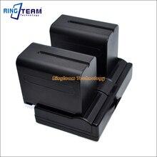 2x NP F970 F960 Battery 1x Dual USB Charger 3 In 1 for Sony NanGuan YongNuo