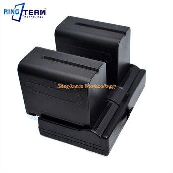 2x NP-F970 F960 baterii i 1x podwójna ładowarka USB (3-In-1) dla Sony NanGuan YongNuo Lampy LED światła w przypadku układów monitorujących, paneli...