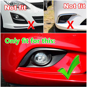 Image 2 - Fit For Atenza M6 GJ CHROME 2013 2014 2015 2016 Front Fog Light Lamp Cover Eyebrow Eyelid Garnish Streamers Outer Foglight trim