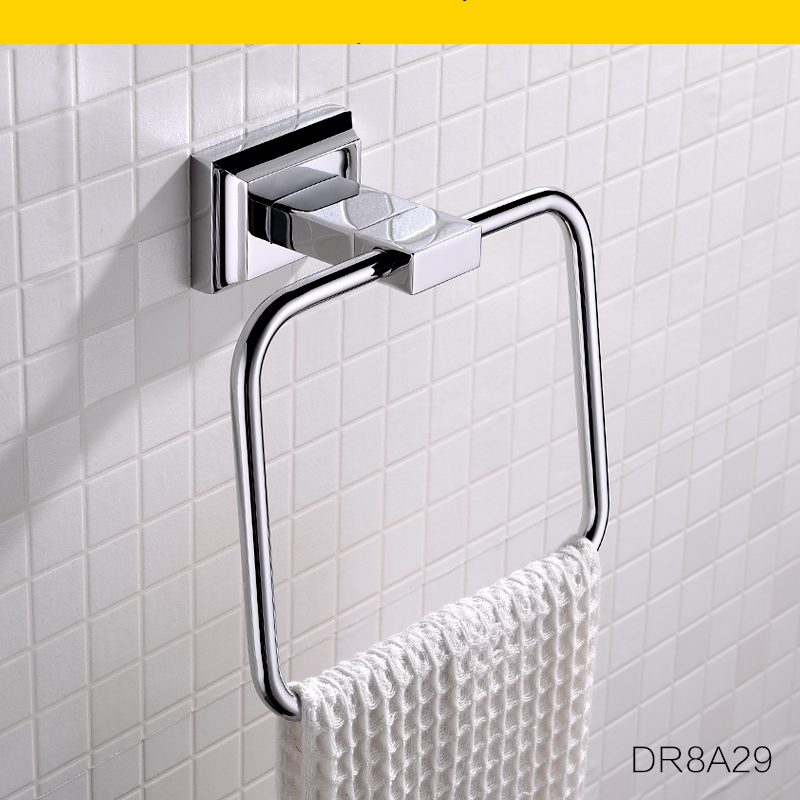 ФОТО High end Bathroom 304 Stainless steel towel ring unique Towel rack,chrome