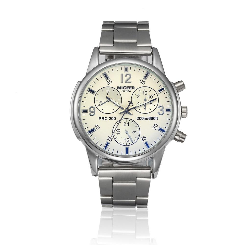 Man Blue-ray glass neutral quartz simulates wrist epidermal Leather Strap Simple Casual male Wrist Watch 2018 High Quality 4A