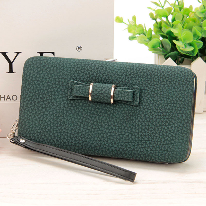 New Purse Women Wallets Women's Card Holder Female Coin Clutch Famous Brand Designer Long Wallet Women Purse Lady Bowknot Wallet nawo real genuine leather women wallets brand designer high quality 2017 coin card holder zipper long lady wallet purse clutch