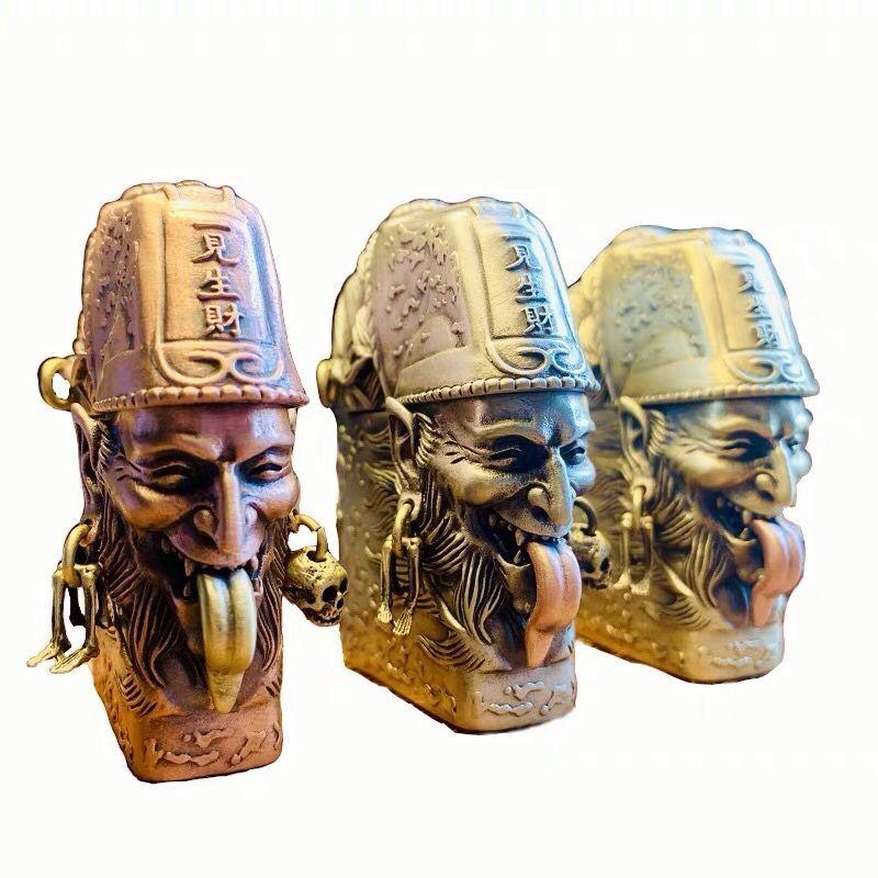 Chinese death brass oil lighter Men cigarette lighter Gift