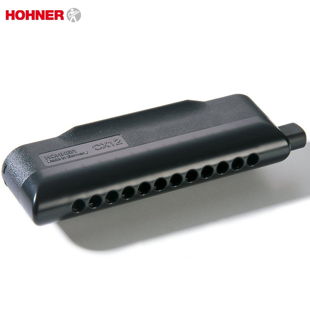 Hohner Chromatic CX12 Harmonica 12 Hole 48 Tone Mouth Organ Instrumentos Chromatic Key Of C Blues Harp Musical Instruments Black pair of stunning solid color hollow out earrings for women