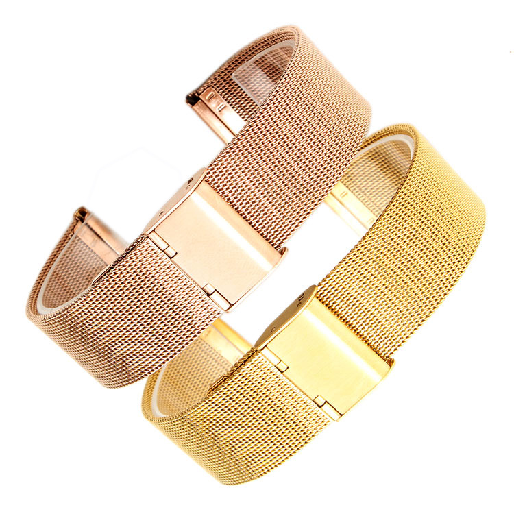 Milan mesh stainless steel watchband for men women moto360 2nd 20mm 16 mm Watch-strap 22mm Tichwatch1 2 HUAWEI B3 watch band