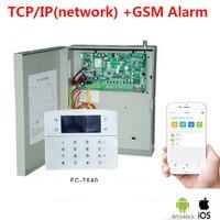 Fokus FC 7640 Industrielle netzwerk alarm system 8 verdrahtete zonen 32 drahtlose zonen TCP/IP GSM metall fall wired security alarm box-in Alarm System Kits aus Sicherheit und Schutz bei