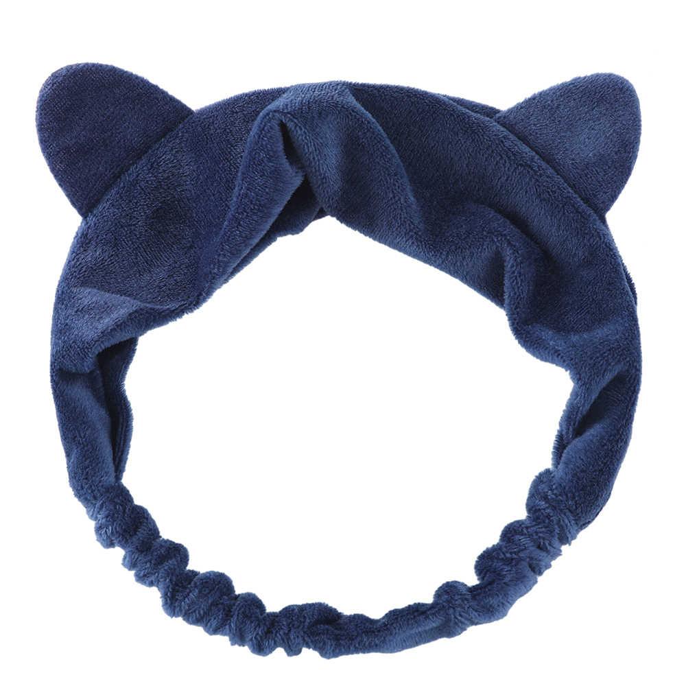 LEVAO эластичные ободки с кошачьими ушками для женщин девочек макияж лица мыть маска-повязка на голову повязка для волос аксессуары для волос