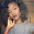 Bob Cut Glueless Full Lace Curly Wig Full Lace Front Natural Hair Wigs With Baby Hair Short Human Hair U Part Wigs Virgin Hair