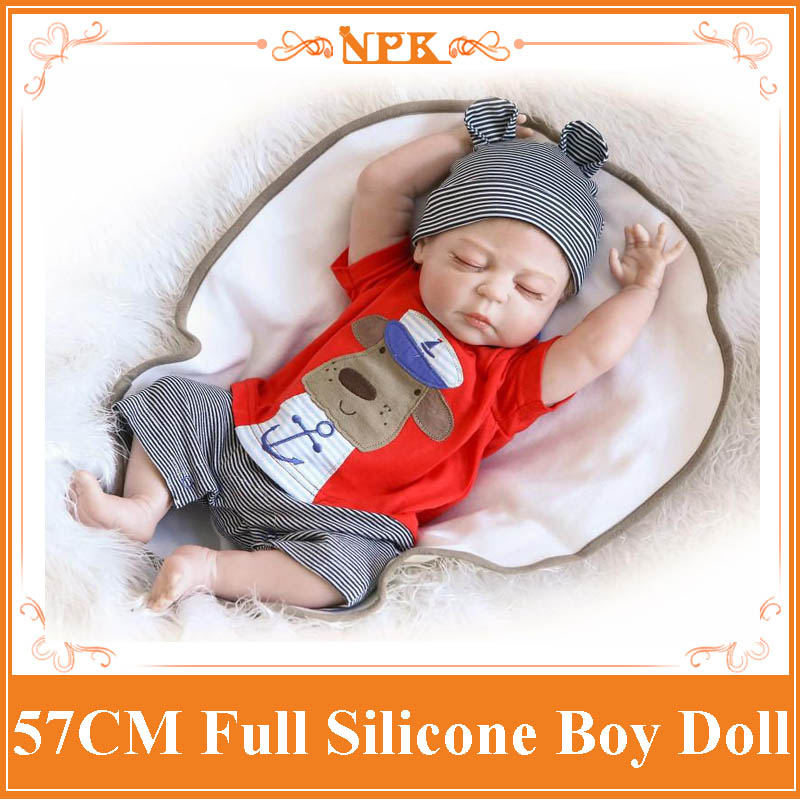 New Arrival 57cm About 22'' Reborn Baby Dolls For Sale Made By EU Standards Whole Silicone Vinyl Hot Doll Toys As Christmas Gift