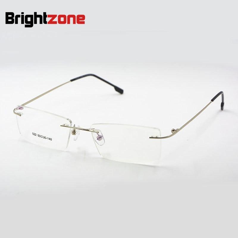 Titanium Memory Flexible Rimless Frame Eyeglasses Optical ...