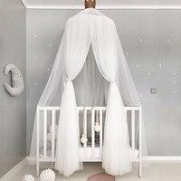 Baby Moskito Net Fotografie Requisiten Baby Zimmer Dekoration Home Bett Baldachin Vorhang Runde Krippe Netting Baby Zelt Geschenk|Krippe-Netting|Mutter und Kind -