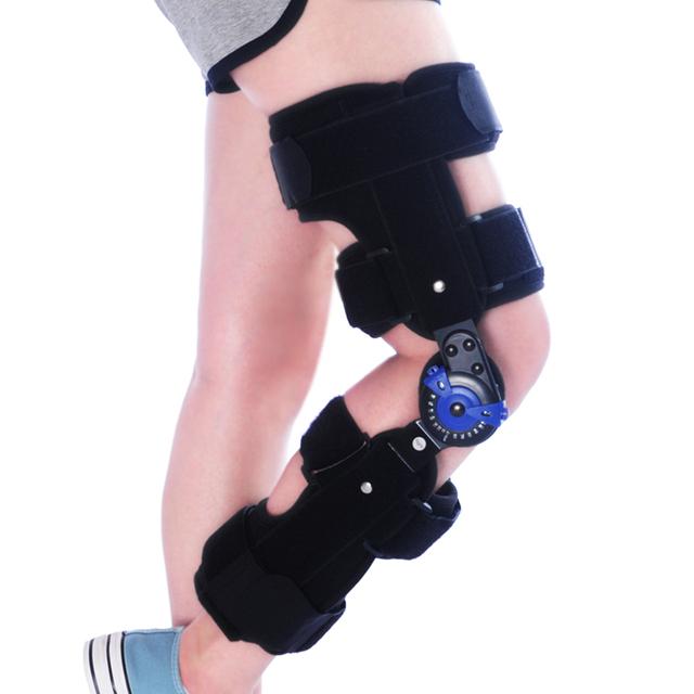 Fixo ajustável knee brace knee pads menisco do joelho ligamento do joelho fratura reabilitação suporte