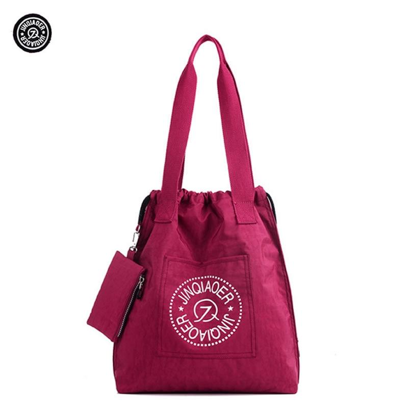 JINQIAOER Women Shoulder Bag Casual Nylon Female Handbag Shopping Women Messenger Bags Fashion Handbags Ladies Tote 2018 fashion lady handbags women canvas messenger bags shopping bags ladies casual green striped smiling face hand bag party