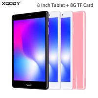 XGODY 8 Inch Tablet PC 4G Network 1GB 16GB 4000mAh Power Dual 2.4GHz/5GHz WIFI With Front Rear Camera Bluetooth 4.0 LCD Screen