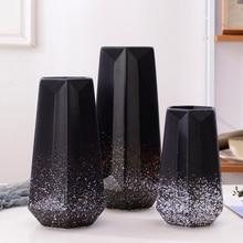 Simple Modern Vase Black Gray Beige Ceramic Nordic Home Decoration Crafts for Flower Jarrones Decorativos Moderno