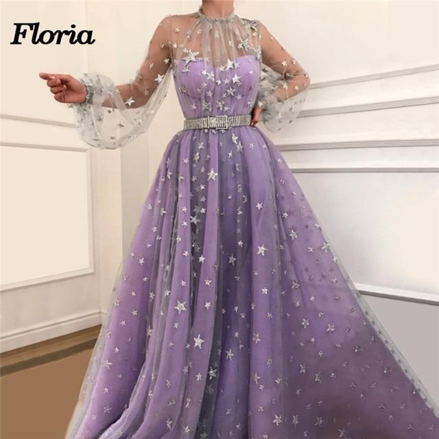 Formal Evening Dresses 2018 Robe de soiree Dubai Turkey Arabic Islamic  Muslim Party Prom Dress For Weddings Kaftan Evening Gowns 862ecee4dee3
