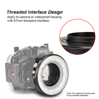 SL 108 67mm Underwater Diving LED Ring Light For Olympus TG 5 TG5 TG 4 Sony A7 II A7R II Waterproof Housing Case
