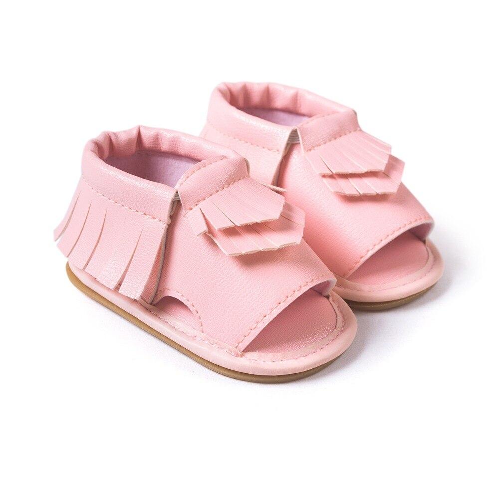 Zapatillas Rushed Real 2016 Summer Baby Moccasins Tassel Sko First Walkers Anti-Slip Fodtøj Nyfødt Toddler Slip-on Soft