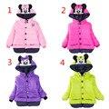 На продажу!!! 2017 baby дети пальто для детей, детей и пиджаки пальто, девушки зима Минни пальто, детские куртки, повседневная детская одежда