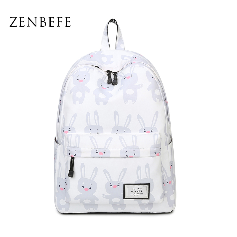 ZENBEFE Cartoon Printing Backpacks Cute Small Backpack For School Bags Lovely Girls Backpack For Travel Backpack