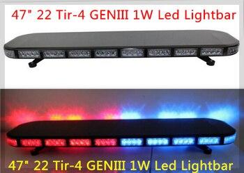 Higher star 120cm 88W Led car emergency lightbar,Strobe warning light bar, light with controller,waterproof