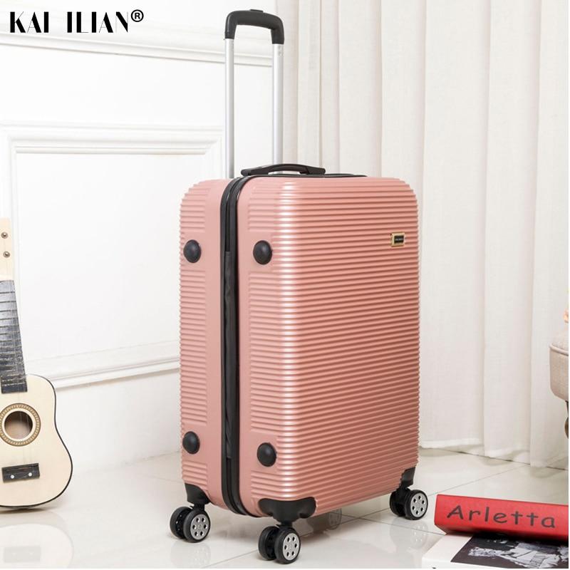 HOT 20/24/28 pouces roulement bagages Sipnner roues ABS + PC femmes valise de voyage hommes mode cabine bagage à main trolley boîte - 6