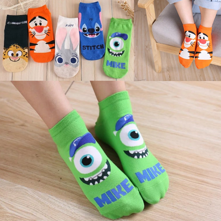 Women   Socks   Hosiery Funny   Socks   Women's Cotton Cute   Socks   with Print