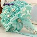Azul dama de honor nupcial de la flor ramo de la boda ramo de novia ramo flor bruidsboeket mariage nupcial dama de Honor ramo de Flores