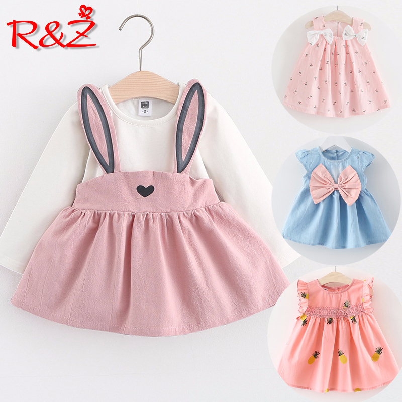 R&Z Baby Dress Long Sleeve Girl Dress 2019 New Autumn Fashion Style Children Clothing Cotton Infant Kids Clothes Cute Rabbit