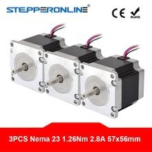 3PCS Nema 23 Stepper Motor 1 26Nm 178 4oz in 56mm 2 8A 4 lead Nema23