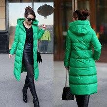 women jacket women winter coat Winter New Korean Slim Hooded Long down jacket free shipping