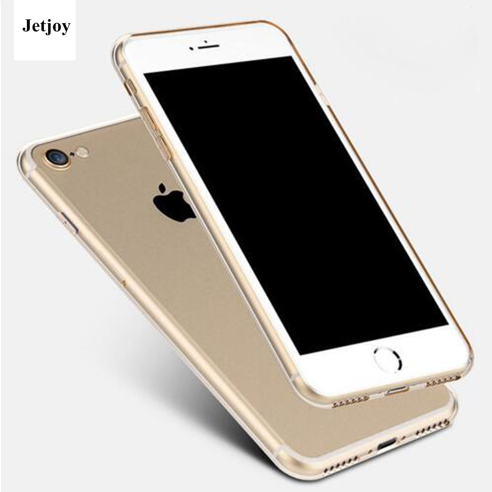 JETJOY Business Ultra Thin Clear Crystal Shock-Absorption Soft Glossy Silicone Perfect Fit Phone Cases Covers For Apple iPhone 7