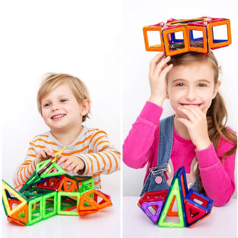 Yeni! Mini Mıknatıs Oyunu Manyetik Yapı Blokları Modelleri ve Bina Oyuncak Plastik Teknik Tuğla Çocuk Öğrenme ve Eğitici Oyuncaklar
