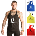 Singlet Bodybuilding Fitness Men Racerback Tank Tops LOA Sleeveless Male Clothing Vest Muscle Shirt Masculina Gimnasio