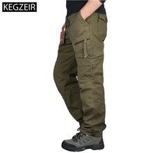 Мужские длинные брюки карго, повседневные Прямые тактические брюки в стиле милитари размера плюс, Осень зима 2020