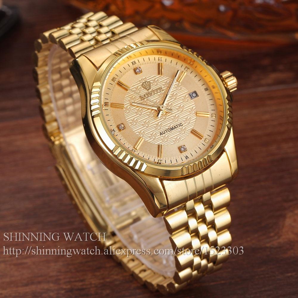 Armbanduhren Für Männer Geschenke Luxus Edelstahl Herrenuhren Zifferblatt Mechanische Gold Automatische Mode Datum Leger Sport Kristall AqjcRS5L34