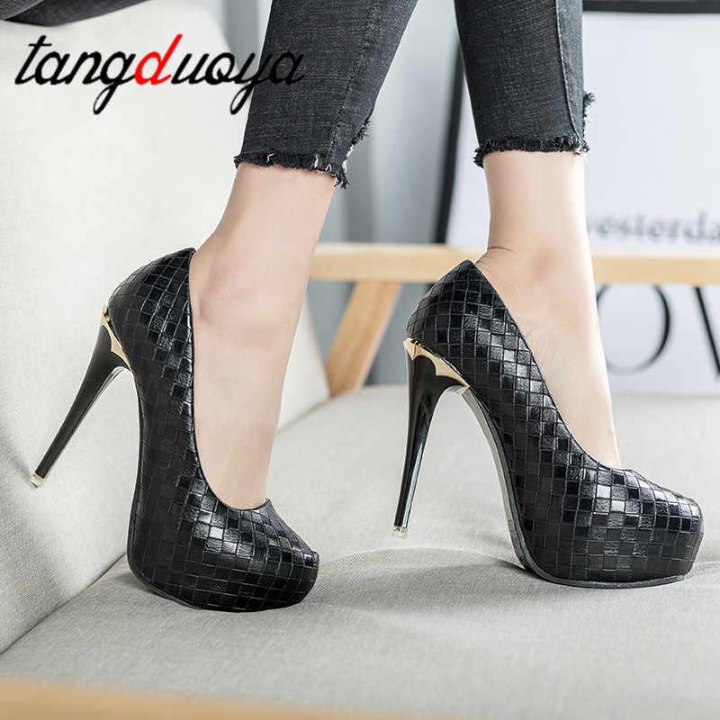 Sexy tacco alto della piattaforma scarpa Europa America stile locale notturno sexy delle donne a spillo scarpe 2019 new semplice ed elegante degli alti talloni pompe
