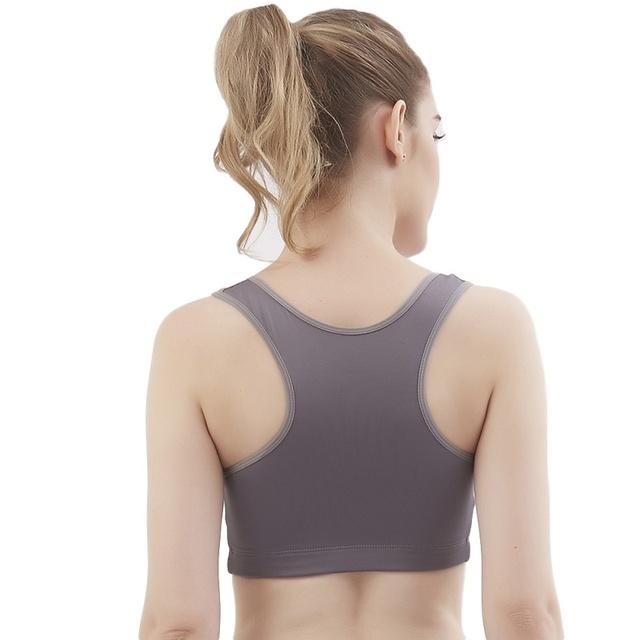 Racerback Sports Seamless Zipper Workout Yoga Bra/Tank Top