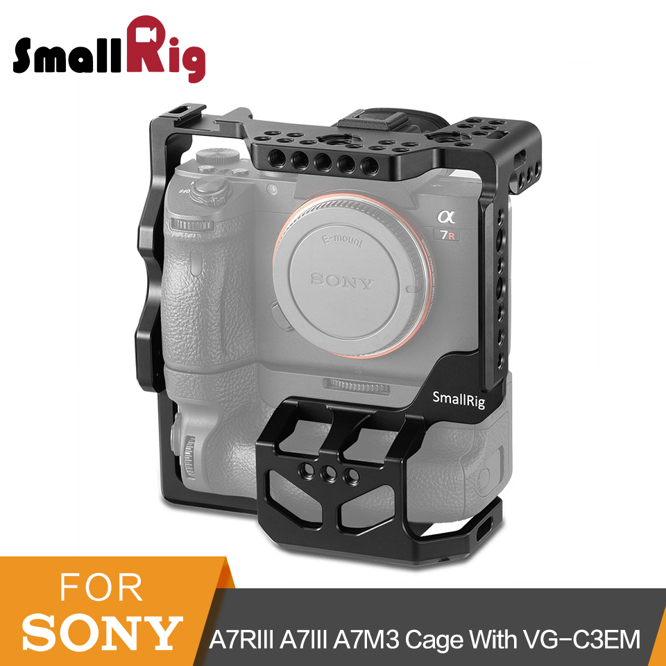SmallRig A7RIII A7III A7M3 Protective Dslr Camera Cage for Sony A7RIII A7III A7M3 With VG C3EM