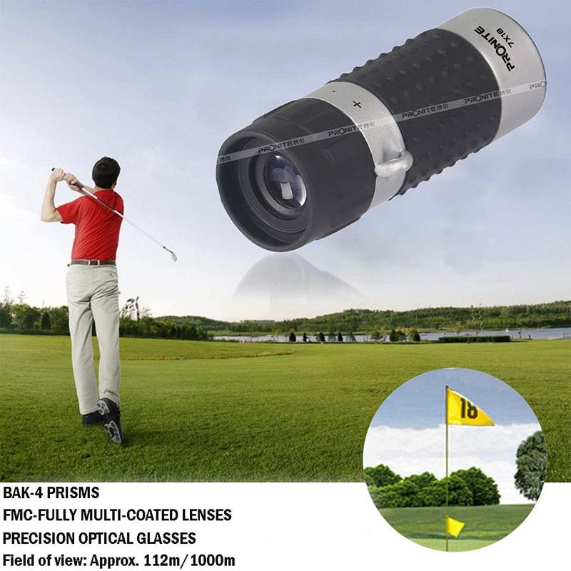 Image 2 - Professional 7x18 Zoom Monocular Golf Rangefinder HD Portable  Telescopic Spyglass Binocular Hunting Shooting Golf Tourism Races-in Monocular/Binoculars from Sports & Entertainment