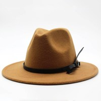 Wool Jazz Hat - Large Brim Fedora 3