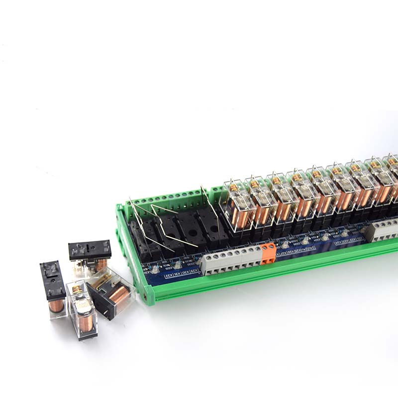 32-way original Omron relay module, compatible with NPN/PNP one open and one closed PLC dedicated interface