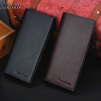 Man Wallet Leather Concise Money Bag Huge Capacity Thin Coin Purse Coin Card Holder Fashion 2019 Male Long Handbags High Quality