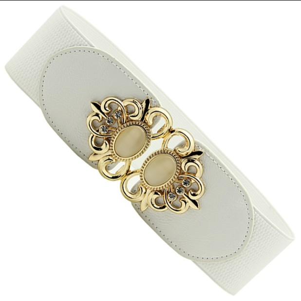 New Arrival All-match Wide Belt Women's Fashion Decoration Cummerbund Elastic Fashion Accessories Love Buckle